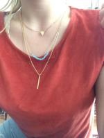 Three Layered Pendant Necklace Reviews - Golden