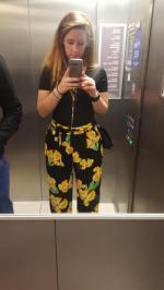 Impresos pierna ancha pantalones Palazzo Reviews