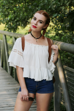 Off The Shoulder Cami White Blouse Reviews