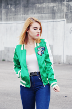 Embroidered Green Baseball Jacket Reviews