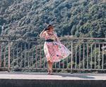 3/4 Sleeve Floral Print Midi Dress Reviews