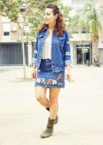 Embroidered Denim Jacket and Skirt Reviews