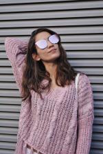 Pink Frameless Mirrored Sunglasses Reviews