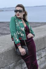 Flower Embroidery Bomber Jacket Reviews