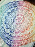 Colorful Mandala Chiffon Round Beach Throw Reviews