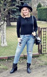 Lace-Up Round Neck Long Sleeve Sweater Reviews