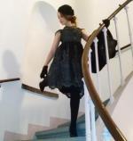 Lace Scoop Neck Short Sleeve Midi Dress Reviews