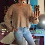 V-Neck Zipper Sleeve Pullover Sweater Reviews