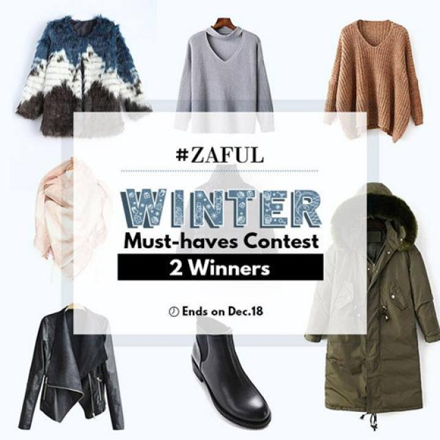 #wintermusthave I just see the contest in ZAFUL facebook page!!! Anyone wanna join the contest with me? I want to win