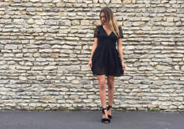 All from Zaful! #nightlook #blackdress