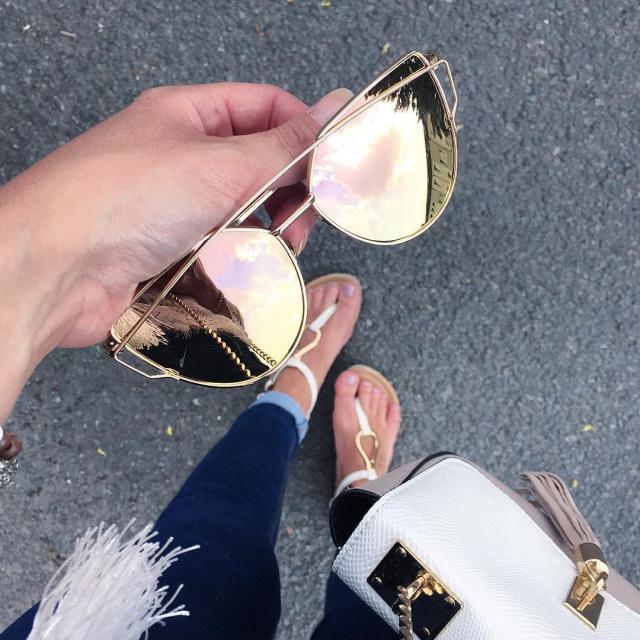 Loving this Rose Gold Aviator Sunglasses!