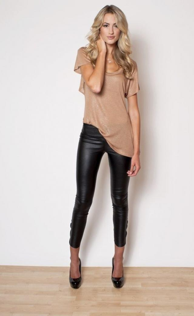 Pleather pants are a great statement piece!