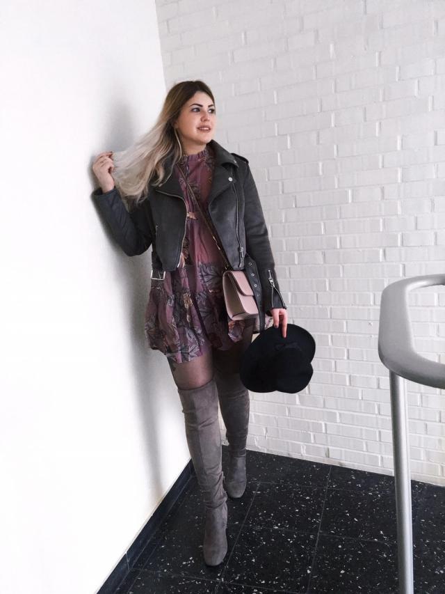 #allgrey #bohostyle #overknees #bohodress #zaful #zmesday00