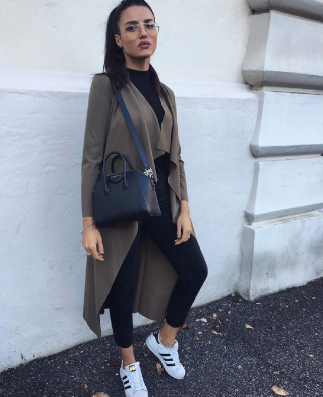 Khaki Trench Coat for a casual day