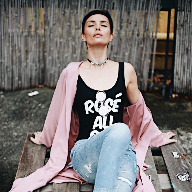 Rose All Day street style look.