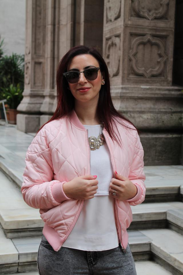 Great bomber jacket. I like the cotton candy pink color! #zmesday00