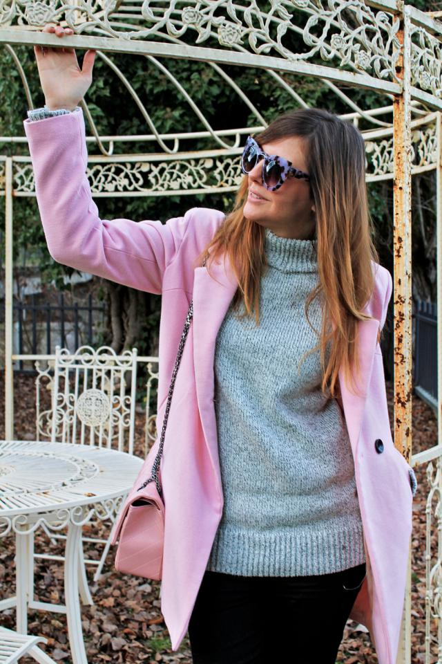 Great sweater and stylish sunglasses