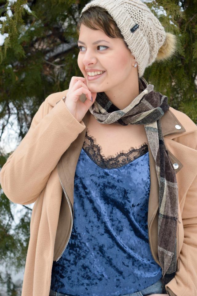 Sexy velvet lace blouse :)