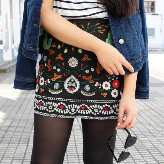 Amazing floral skirt!