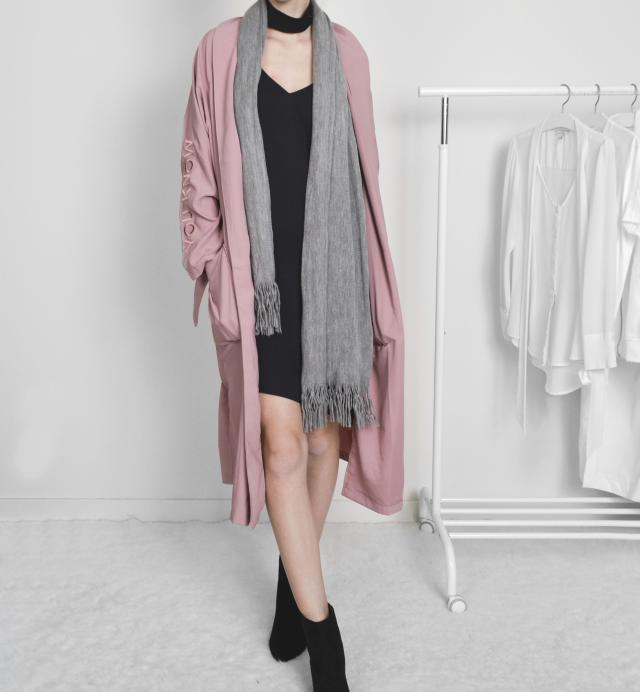 Duster and silk slip