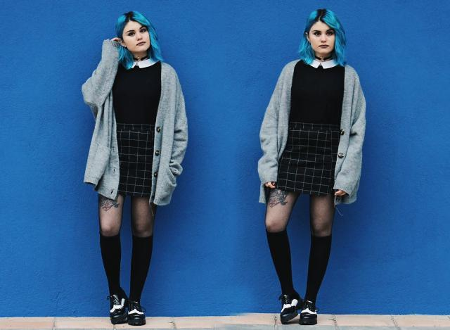 Alternative outfit with black skirt
