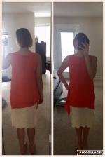 Two Piece Tank Dress Reviews - Orange M