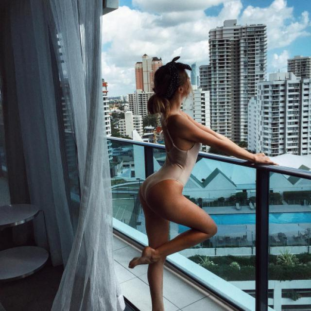 Looking pretty on the balcony