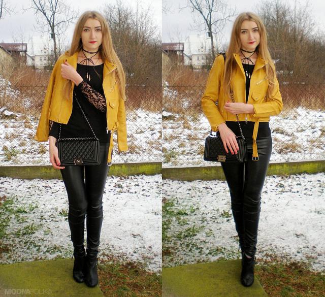 Lace blouse & choker