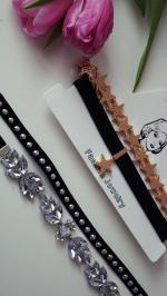 2PCS Faux Crystal Rivets Velvet Chokers Reviews