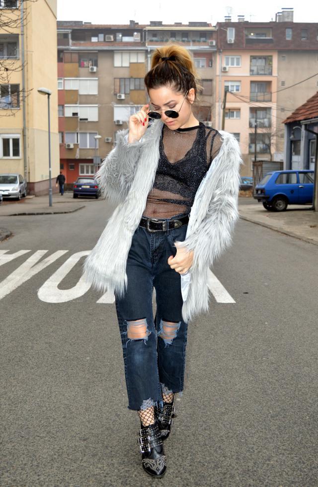 Mesh and fur combo <3 #zaful #fur #mesh #streetstyle #zafulgirl