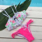 Lace-Up Floral Bikini Set Reviews