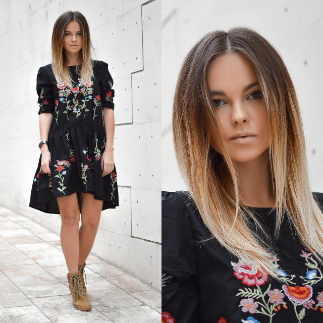 Black Autumn Style In http://shinyhoney.com/blog-outfits-black-autumn-dress.html
