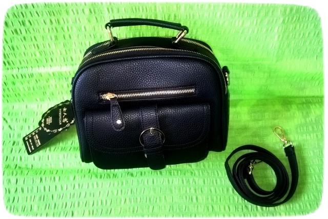 Beauty and solidly constructed bag - black.