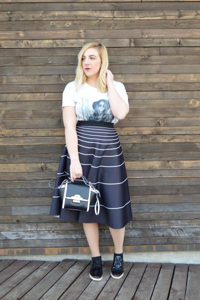 #ootd #blogger #zafulskirt #alineskirt