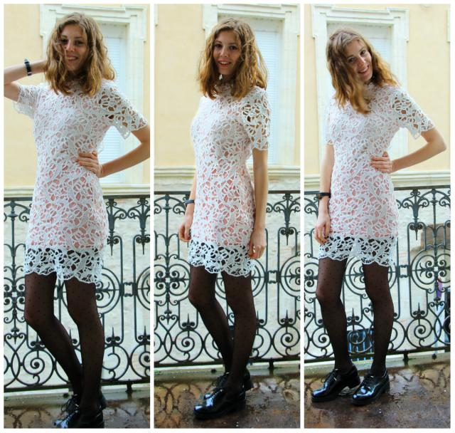 Sunday Brunch with this super lovely white lace dress <3