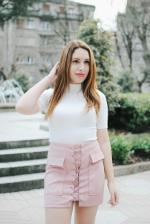 Ate para arriba gamuza sintética mini falda Reviews