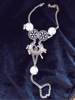Water Drop Sequins Toe Ring Anklet Reviews  Silver