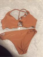 Solid Color Elastic Cami Bikini Set Reviews