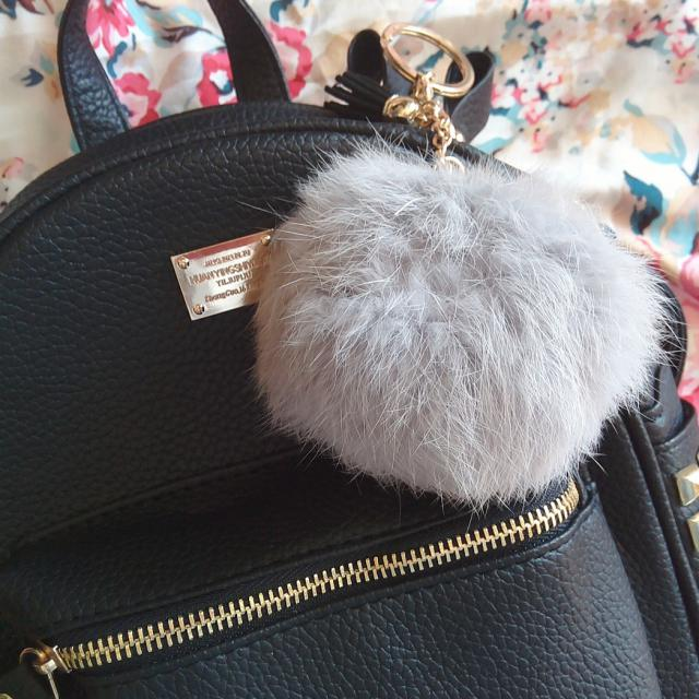 #TTIL I love my new backpack from Zaful! And my fluffy keyring :) ♥