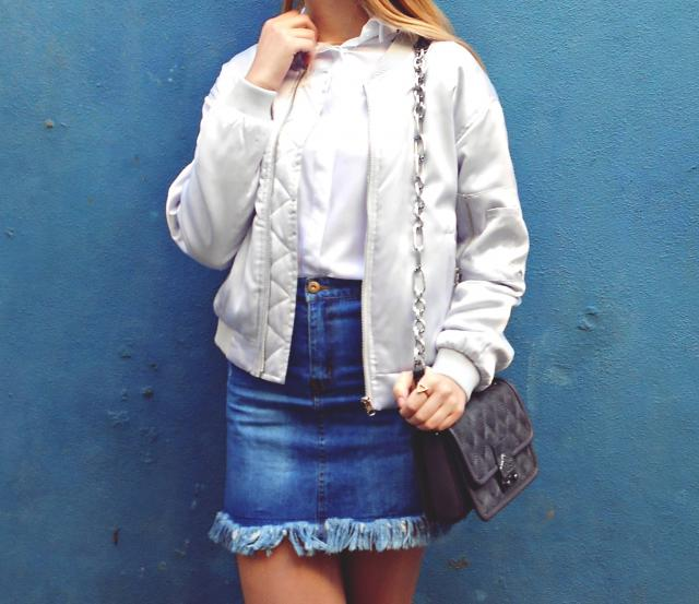 I love with this skirt and bomber jacket from zaful <3 #spring2017