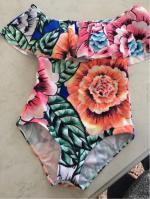 Traje Baño Sujetador Bragas Floral Cuello Cuadrado Reviews - Floral S