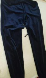 Drawstring Velvet Joggers Pants Reviews - Cadetblue L