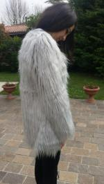 Open Front Fluffy Faux Fur Coat Reviews - Light S