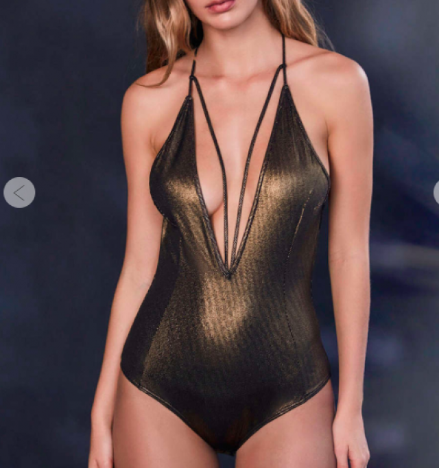 look at this wonderful metallic bodysuit!