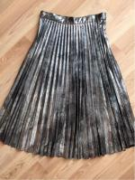 Hot Fix Pleated Skirt Reviews - Silver L