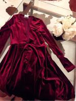 Terciopelo una línea de vestidos Reviews - Wine M