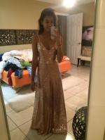 Backless Sequins Spaghetti Strap Maxi Dress Reviews
