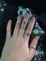 6 PCS Tribal Geometry Retro Rings Reviews