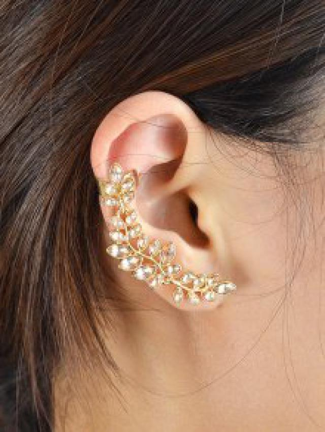 I am in love with these Crystal Leaf Shape Ear Cuffs
