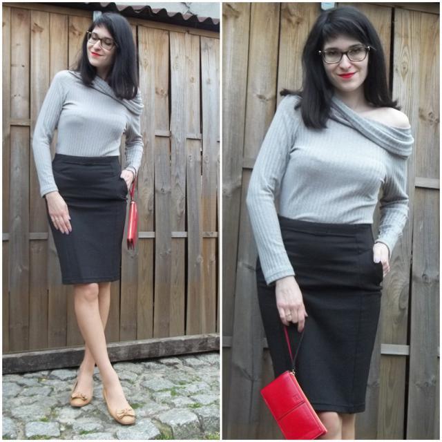 #trendy #asymetric #greysweater #blogger